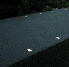 solar light ideas | flush mounted driveway lighting