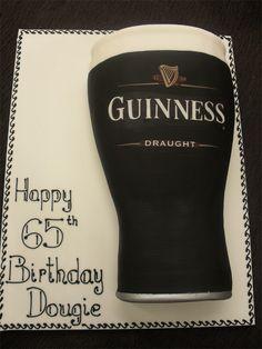 Guiness birthday cake
