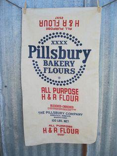 vintage flour sacks - Google Search