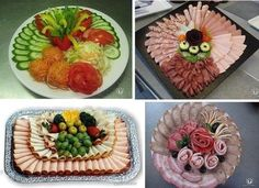 Making cuts to the New Year's table. Discussion on LiveInternet - Russian Online Diaries Service Party Trays, Party Dishes, Party Platters, Snacks Für Party, Appetizers For Party, Appetizer Recipes, Deli Tray, Meat Trays, Food Platters
