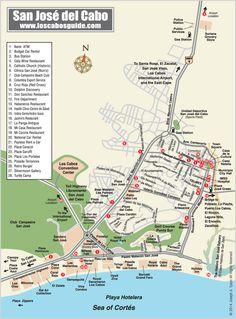 San Jose del Cabo Map - Los Cabos Guide