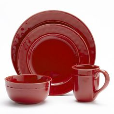 Food Network™ Fontina 4-pc. Place Setting, Red