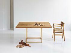 TABLE EXTENSIBLE EN CHÊNE JEWEL   TABLE CARRÉE   DK3