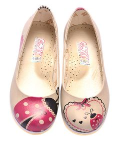 Another great find on #zulily! Tan Ladybug Leather Ballet Flat #zulilyfinds