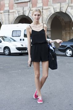 I want a black play suit