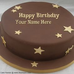 Happy birthday cake images with name editor…