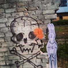 meat eaters were here. you will survive if you run fast enough. #streetart #graffiti #illustration #art #meat #vilnius