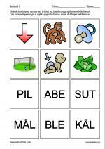 Små ord 1 Learn To Read, Kids And Parenting, Diy And Crafts, Preschool, Teaching, Sprog, Education, Fun, Danish Language