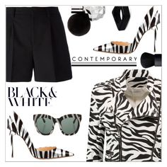 """""""Zebra with www.fsjshoes.com"""" by simona-altobelli ❤ liked on Polyvore featuring Pierre Balmain, Yves Saint Laurent, Dsquared2, Marni, NARS Cosmetics and fsjshoes"""