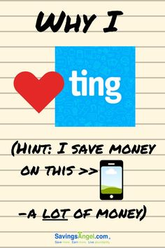 I absolutely love Ting mobile. My family has used it for years. It's a service I wholeheartedly endorse and I think you'll love it too! Save My Money, Save Me, Earn Money, Money Tips, Money Saving Tips, Saving Ideas, Personal Finance Articles, Finance Tips, Frugal Living Tips
