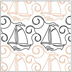High Seas quilting pantograph pattern by Lorien Quilting