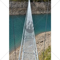 Alpine Footbridge Over Lake