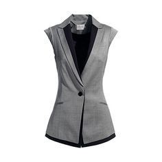 Two Tone Sleevless single button Jacket. Perfect for a formal & business casual occassion!