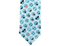 Check out Skinny Tie - Brain Emoji - Blue on handmadephd