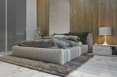 Model Desain Apartemen untuk Pria yang Maskulin 2 - Kamar Tidur Lesehan