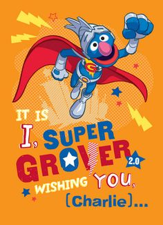 Super Grover Birthday Birthday Card