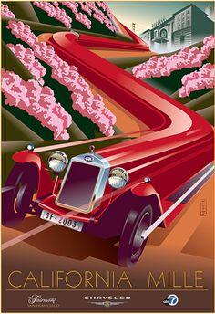 Trains, plains, and automobiles on behance affiches-cars-races poster, vint Art Deco Artwork, Art Deco Posters, Car Posters, Mobile Art, Car Illustration, Design Graphique, Automotive Art, Vintage Travel Posters, Grafik Design