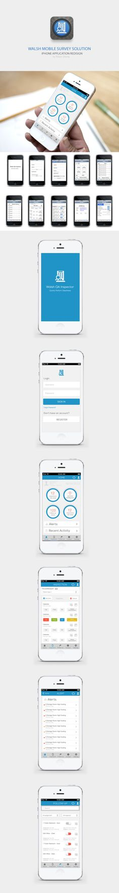 Inspector App for Iphone Ios7 Style by Pq Z, via Behance | simple II | blue highlight II