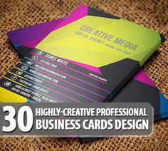 30 Highly-Creative Professional Business Cards Design