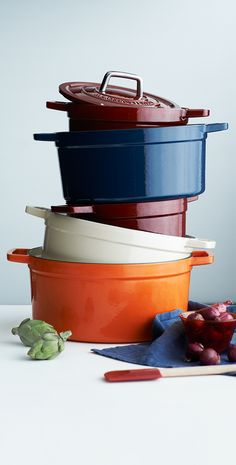 How's your holiday menu coming along? Make sure you have cookware and kitchen tools that can handle the job. Martha Stewart's enameled cast iron casserole dishes are a must!