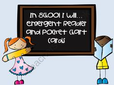 In School I Will...Emergent Readers and Pocket Chart Cards from Fun in ECSE on TeachersNotebook.com -  (24 pages)  - Great for the start of the school year! Emergent Reader in two formats and pocket chart cards for retelling.