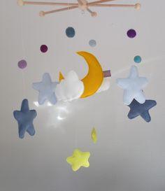 Mobile - Mobile ★ Sternenhimmel ★ blau/gelb ★ - ein Designerstück von elseMIR bei DaWanda