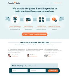 web design, icons, nice structure and colors