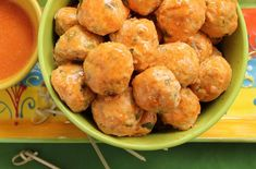 Mini Buffalo Chicken Meatballs (Paleo) - Further Food