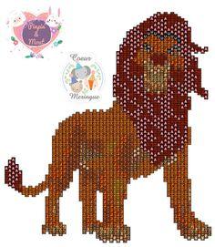 Peyote-brickstitch Pattern Simba Roi Lion - Diagrammes perles Miyuki et Résine Blog DIY Pinpin et Mout