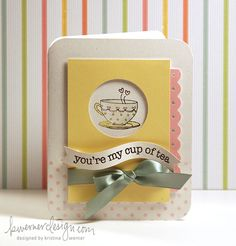 U're my cup of tea-Card with tutorial