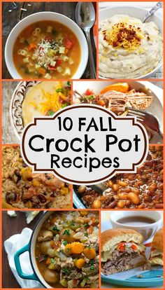 10 Fall Crock Pot Recipes that will warm your heart and soul! Find a whole collection featured on Design Dazzle!