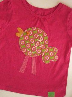 Little Tweetie Bird on Berry Pink Shirt