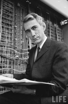 Claude Shannon (the Einstein of information theory -- or Einstein was the Shannon of physics...)