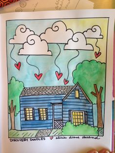 House Blessings - Watercolor Doodle - Artwork by: Diane Bleck - www.discoverydoodles.com