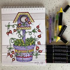 "Jennifer Stay on Instagram: ""I finished the coloring page from Wednesday's Live coloring event using the @spectrumnoir Tri-Blend markers. (Thanks for sending me the box…"""
