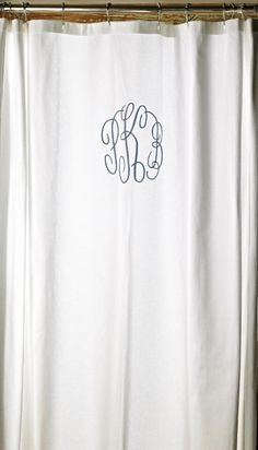 A monogrammed shower curtain for the bathroom? Yes, please!
