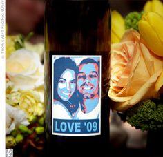 Real Weddings - A Traditional Yellow Wedding in Hillsborough, CA - Homemade Wedding Wine
