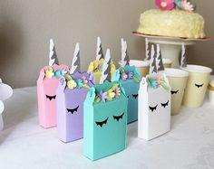 Favores de unicornio  favores de partido  unicornio cajas a