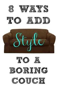add style to a brown couch
