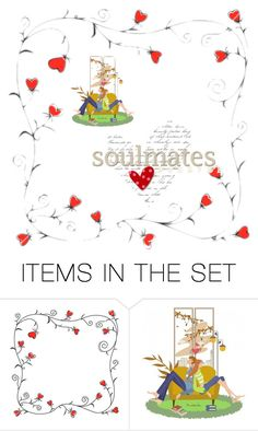 """""""Soul Mates"""" by nthpocket ❤ liked on Polyvore featuring art"""