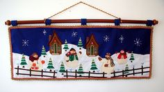 moldes cenefa navideña patchwork - Buscar con Google Christmas Valances, Christmas Crafts, Xmas, Yule, Valance Curtains, Ideas Para, Toy Chest, Snowman, Quilts