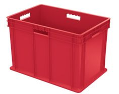 AkroMils 37686 24Inch by 16Inch by 16Inch Straight Wall Container Plastic Tote with Solid Sides and Solid Base Case of 2 Red ** You can get additional details at the image link.