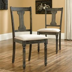 Found it at Wayfair - Barrister Lane Dining Chair // these ones are real wood