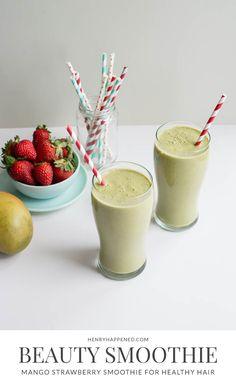 Swiss Chard, Mango + Strawberry Beauty Smoothie | Henry Happened