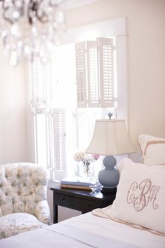Soft and creamy colors!  I love the monogram on the pillow