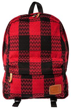 Vans Backpack Deana in Reinvent Plaid Red - Karmaloop.com