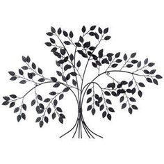 "50.00 hobby lobby. Dark Gray metal tree wall decor. Dimensions:  Length: 23"" Width: 32"" Thickness: 1"""