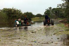 El río Paraguay, en el Puerto Formosa, llegó en las últimas horas a una altura de 7,87 según los registros de Prefectura local e ingresó a la etapa de alerta (Télam)