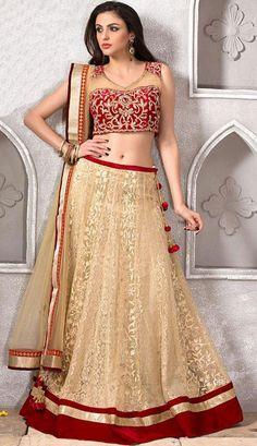 USD 372.03 Maroon Sendly Net Designer Wedding Lehenga Choli 43085