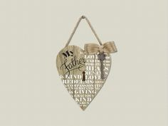 'My Father' Heart Wall Hanger | SonGear